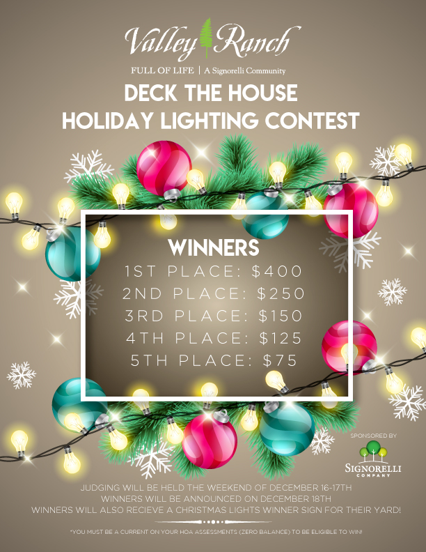 Valley Ranch Christmas Lights Contest