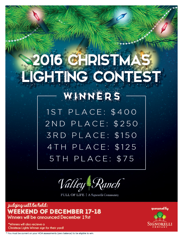 Valley Ranch 2016 Christmas Lights Contest  sc 1 st  Valley Ranch & 2016 Christmas Lighting Contest azcodes.com