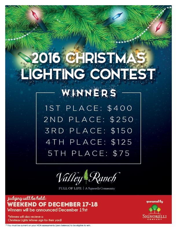 2016 Christmas Lighting Contest