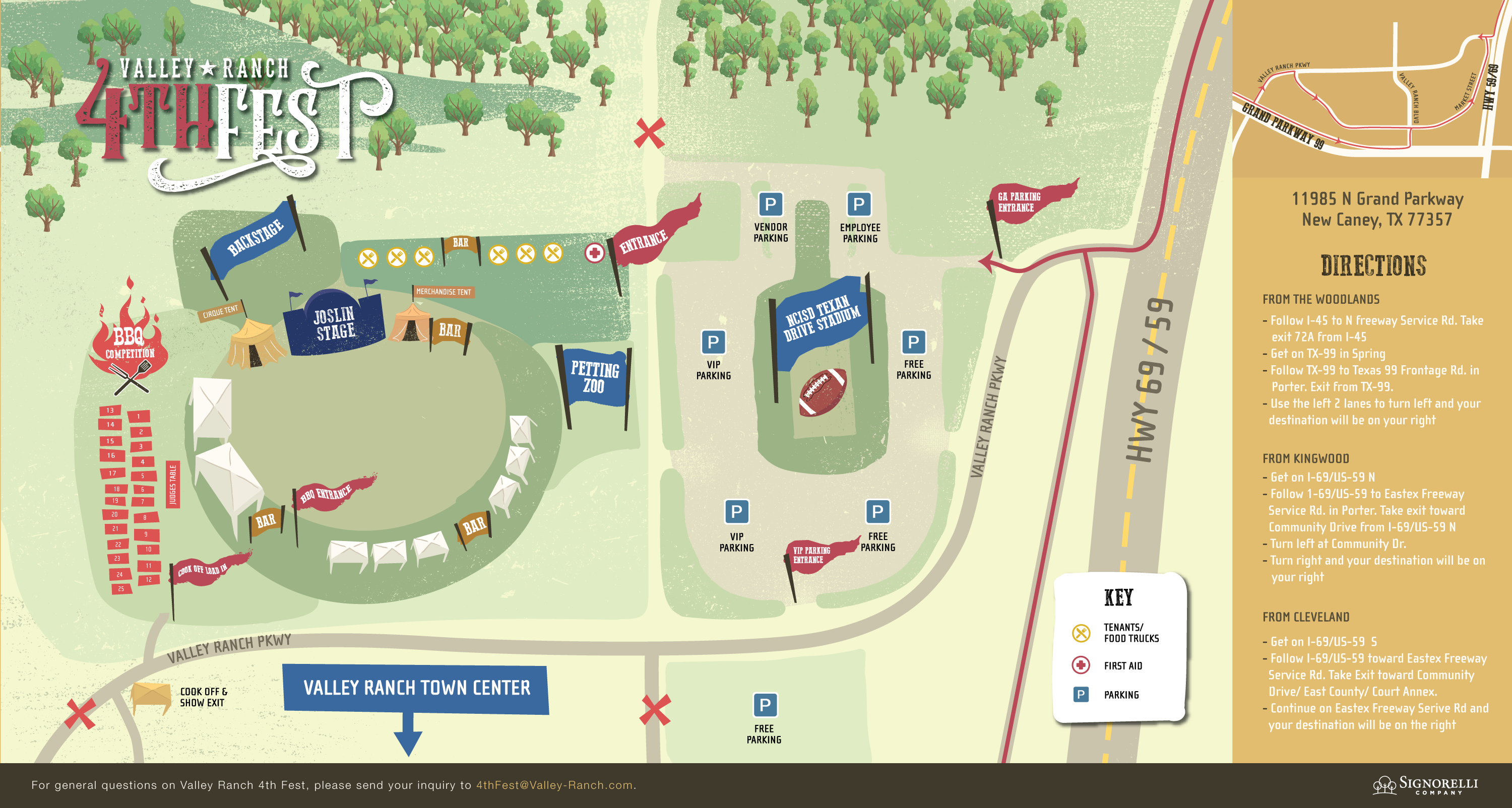 Valley Ranch 4th Fest Site Plan