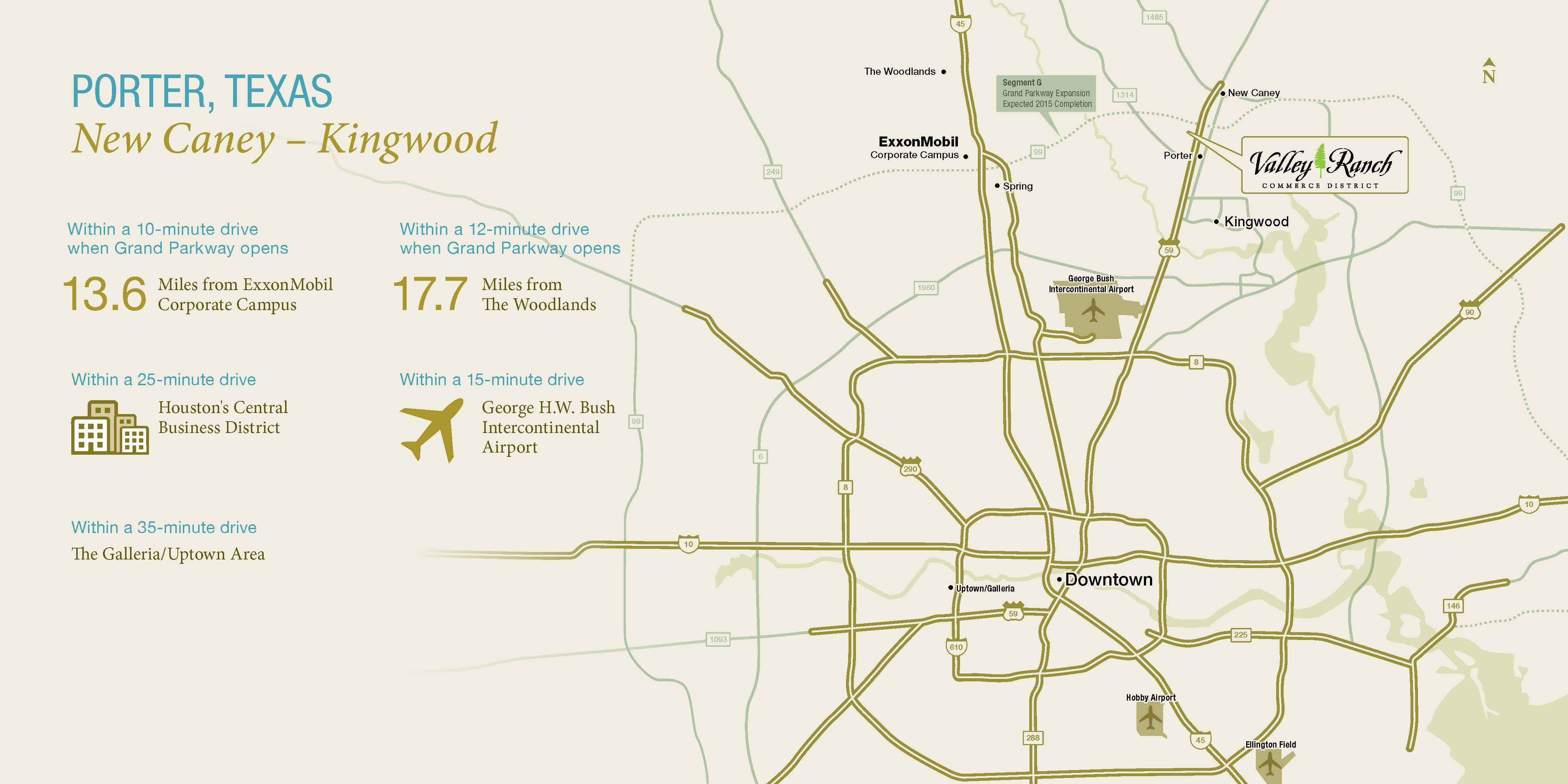 Location of Our Community Near Kingwood | Valley Ranch